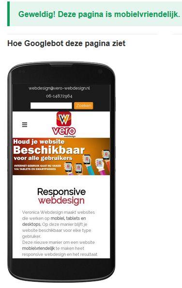 Een mobielvriendelijke website is een website die op mobiel, tablet en desktop werkt. Veronica Webdesign maakt mobielvriendelijke websites!  Neem vandaag contact met ons op voor een vrijblijvende offerte!