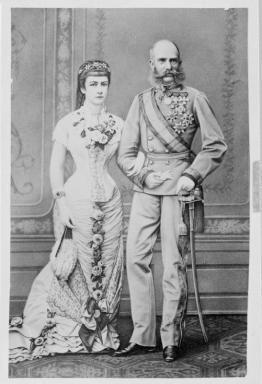 Elisabeth, Kaiserin von Österreich (1837 - 1898) &  Franz Joseph I., Kaiser von Österreich (1830 - 1916).    Inventarnummer: NB 534.500 - B