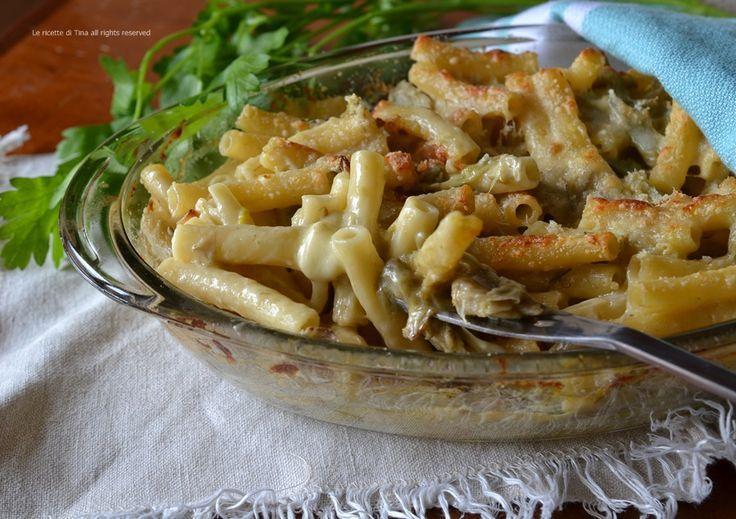 Pasta carciofi e scamorza al forno,un primo piatto fantastico,facile e saporito!