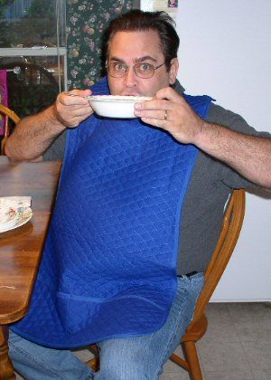 Adult bibs for charity.