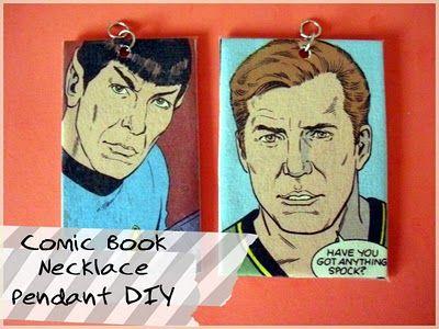 punk projects: Comic Book Necklace Pendant DIY: Idea, Craft, Punk Projects, Book Necklace, Comic Books, Comicbook