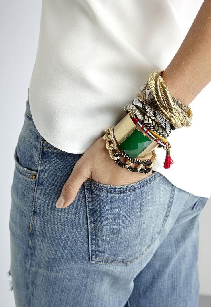 Beautiful Stacked Bangles & Bracelets