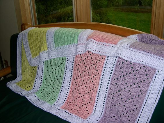 492 best crocheted baby blankets images on pinterest afghan love this the pattern even shows how to embroider small flowers along the edging fandeluxe Images