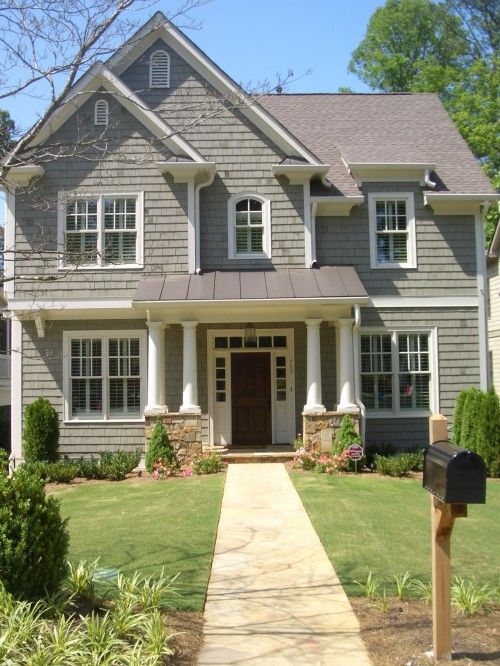 Beautiful Exterior Home Design Trends: Beautiful Home Exterior, Like The Grey, Would Be Doable