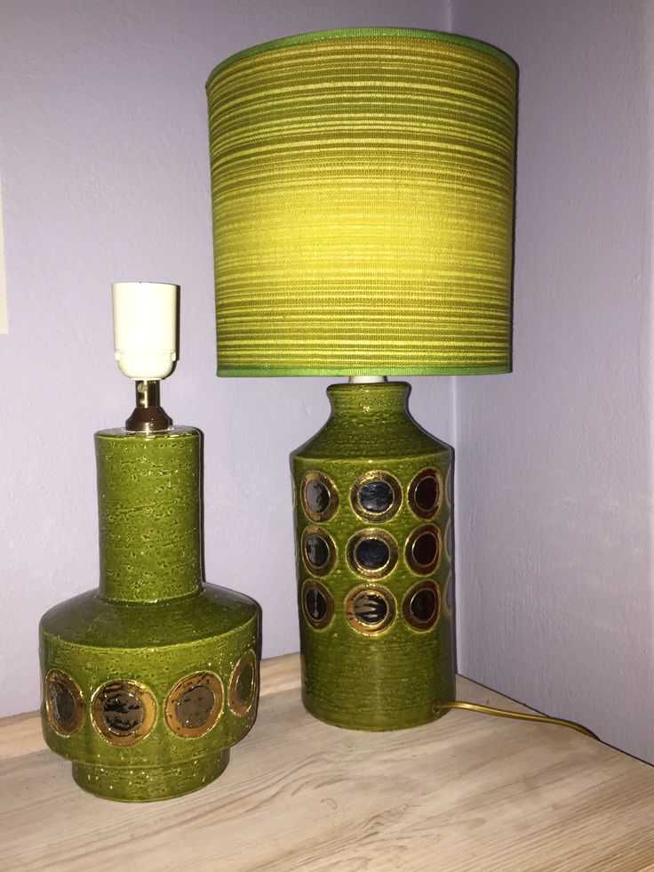 Bitossi Ikano lampbases. Aldo Londi. Mid century Italian pottery.
