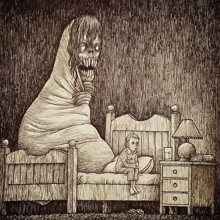 Картинки ужастики с надписями