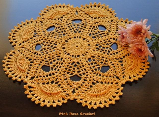 Sunflowers Crochet   Sunflower Bloom »Sunflower Bloom Crochet Doily ·  Crochet SunflowerCrochet DolliesSunflowersTable RunnersSpacesTissue