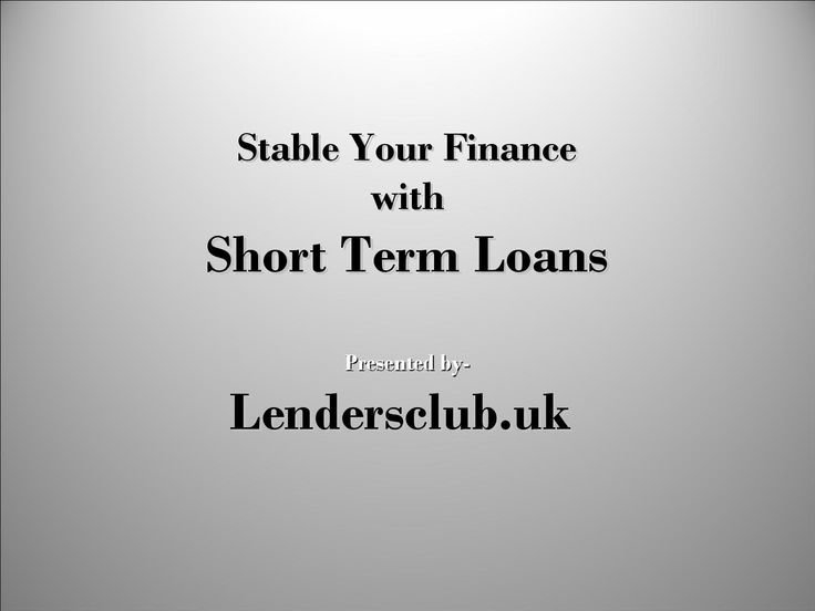 Stable Your Finance with Short Term Loans  Lenders Club is a reliable online money lender in the UK market. It offers short term loans with competitive APRs, flexible repayment options, no cumbersome application procedure and quick approval. To know more, visit: http://goo.gl/vqVirD