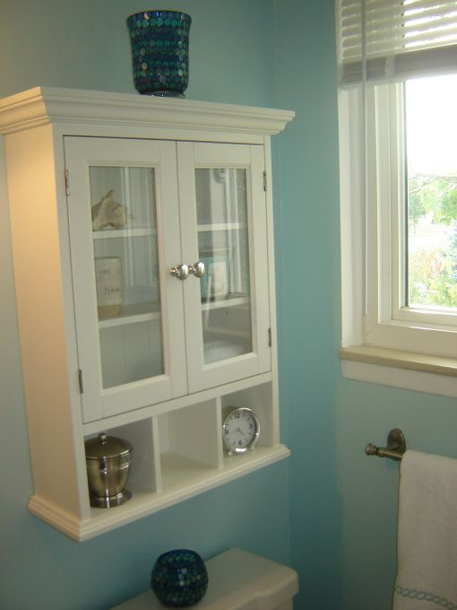 Create Photo Gallery For Website cabinet above toilet in Spa Inspired Bathroom