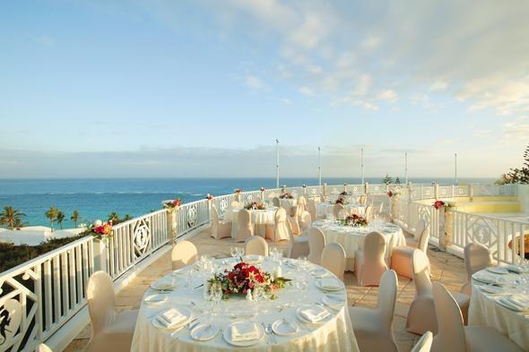 Ocean view wedding terrace in Bermuda. Beautiful!!