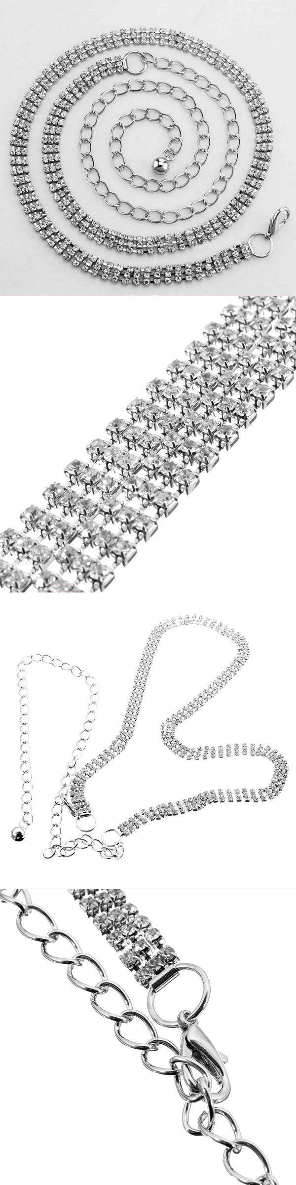Body jewelry tucson 1pc silver 3 row rhinestone waist chain belt for women #body #jewelry #online #best #body #jewelry #plus #auburn #body #jewelry #wholesale #distributors #d #ring #body #jewelry