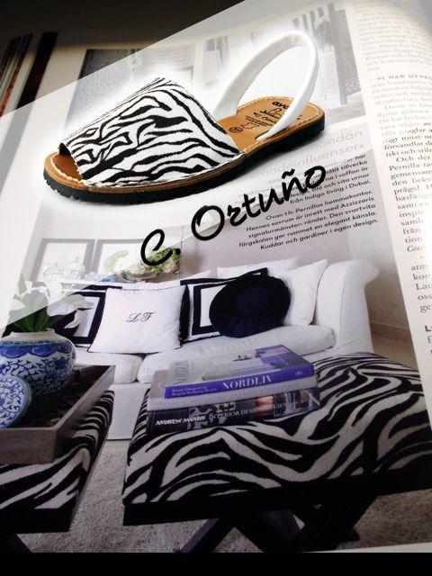 Avarca Animal Print Cebra