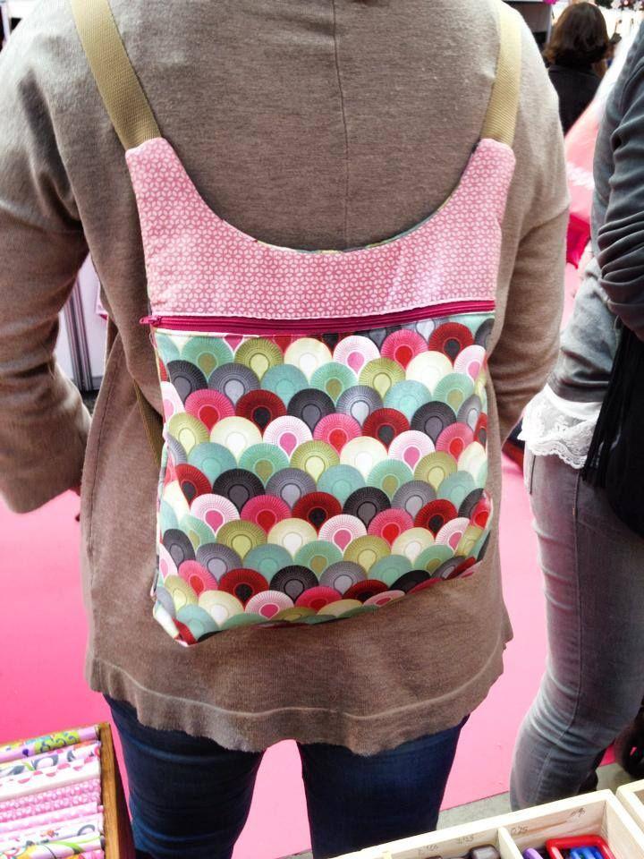 El kit de la mochila Mots de Jan et Jul hecha por Carla y vista en Creativa Barcelona 2015