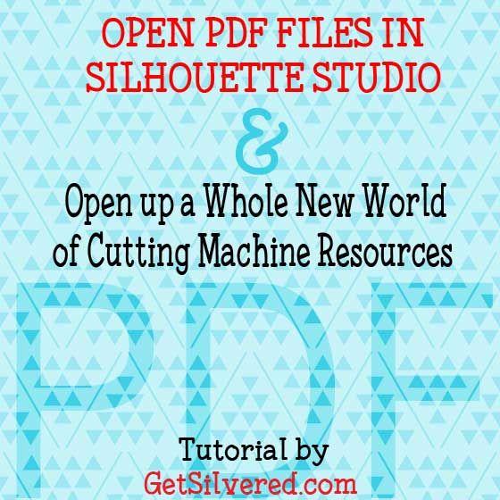 Tutorial to import PDF Files into Silhouette Studio Designers Edition