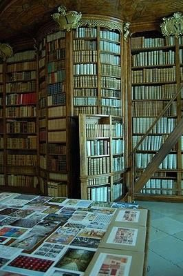 a hidden passage behind their book shelves-a secret passage that leads to more books