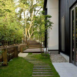 庭はモダンな印象を生み出すこともできます。