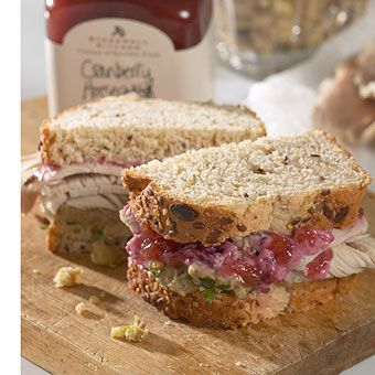 Come get some Cranberry Horseradish Sauce so you can make the Pilgrim Turkey Sandwich!!