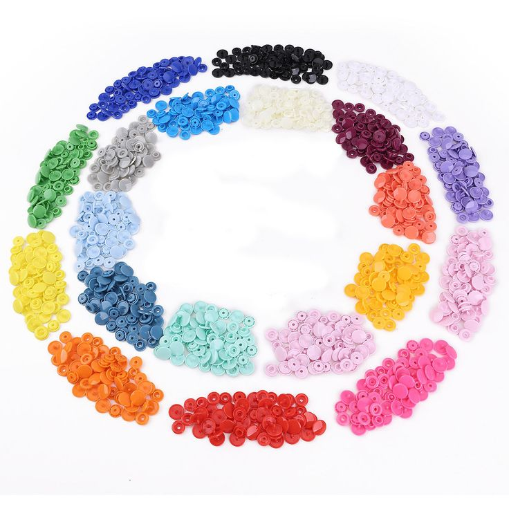 300 Sets KAM Snap Kits Size 20 T5 Plastic Snaps Fastener Buttons Press Stud SET | eBay
