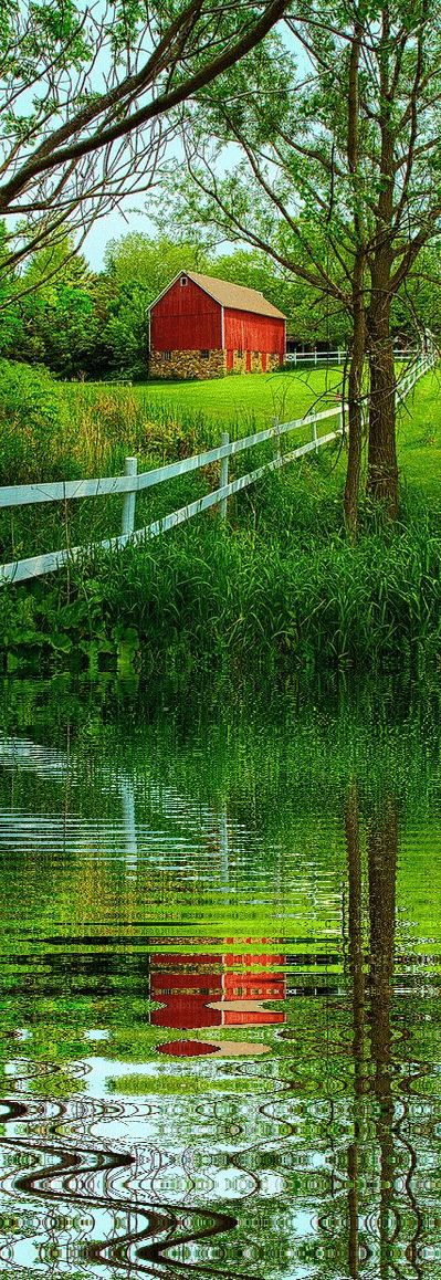 I'd like to thank the user who uploaded this beautiful barn reflection.