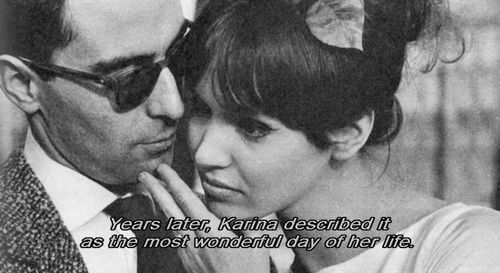 cinemafrancais:    Jean-Luc Godard & Anna Karina  Godard, l'amour, la poésie  Luc Lagier, 2007