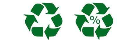 - Cuando aparece solo significa que el producto ha sido elaborado con materiales que se pueden reciclar. – Cuando figura dentro de un círculo quiere decir que la mayor parte de los materiales se han reciclado. – Si en su interior aparece un número indica el porcentaje de materia prima que ha sido reciclada.