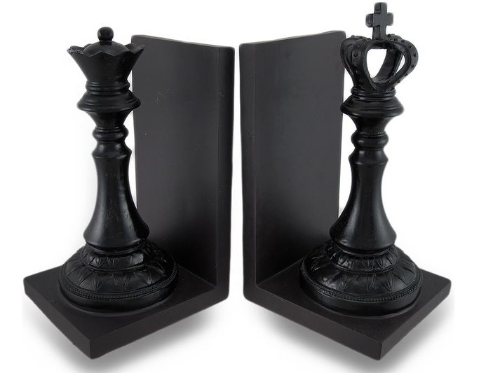 http://www.houzz.com/photos/22384761/King-and-Queen-Chess-Piece-Black-Satin-Finish-Bookend-Set-of-2-traditional-bookends