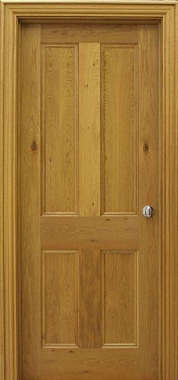 Internal & Interior Doors | Pippy Oak Doors | 4-Panel Pippy Oak Door (40mm)
