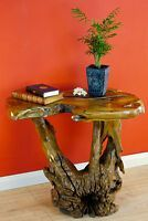 Table Burlwood en teck Table Burlwood Table en bois massif de salon Table basse. W …