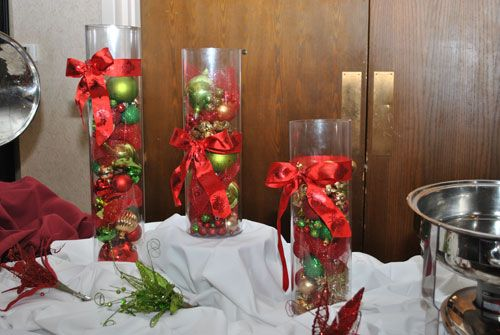 Christmas Table Centerpieces For Banquet | Christmas Party Decorations « Event News
