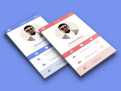 Profile App Design by Barry Mccalvey