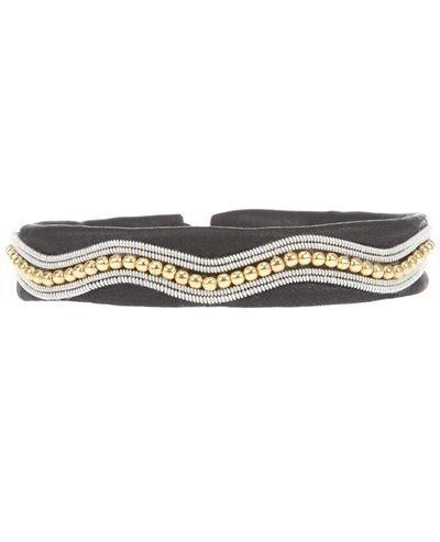 maria rudman bracelets | MARIA RUDMAN Beaded Leather Bracelet.
