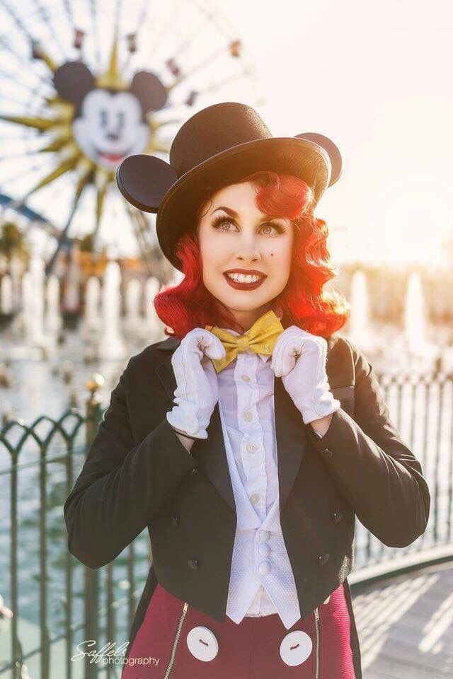 Traci Hines, Dapper Day 2016 Disneyland. Disneybounding as Mickey