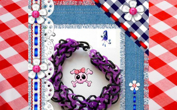 """Плетение браслета из резинок, браслет """"Monster High"""" (Школа монстров)"""