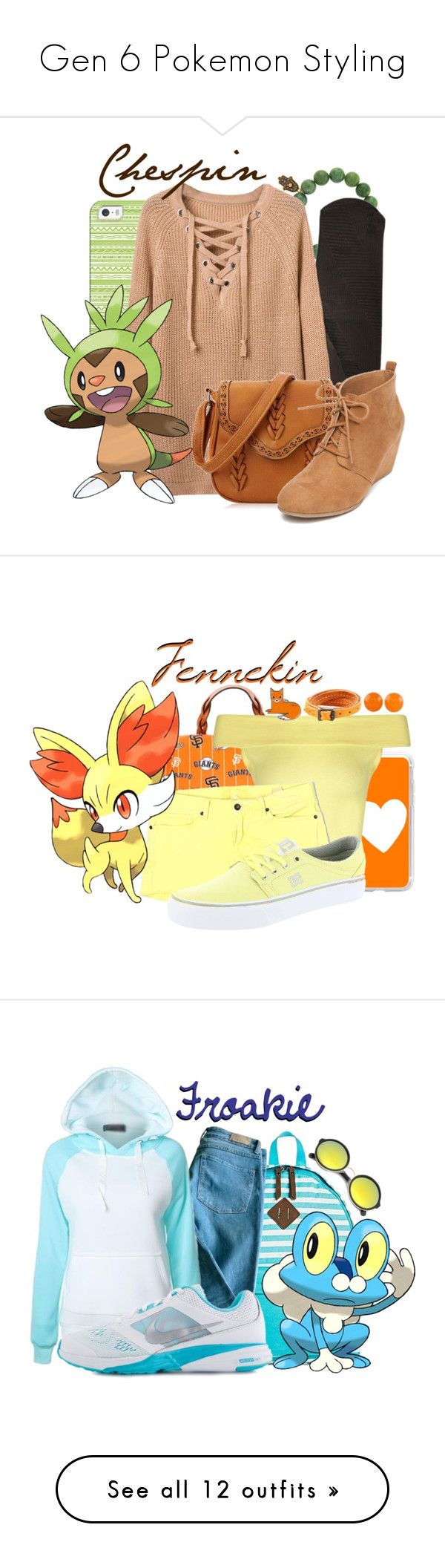 """""""Gen 6 Pokemon Styling"""" by freezespell ❤ liked on Polyvore featuring Casetify, Sydney Evan, New Directions, Dooney & Bourke, Boohoo, Lucky Brand, DC Shoes, Frye, NOVICA and Dickies"""