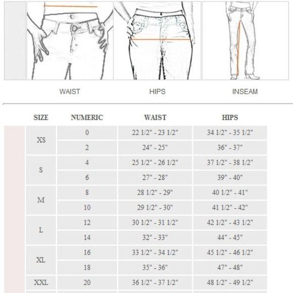 Jeans - Women's denim size converter