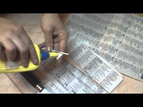 How to roll up newspaper tubes. Three years later. - YouTube