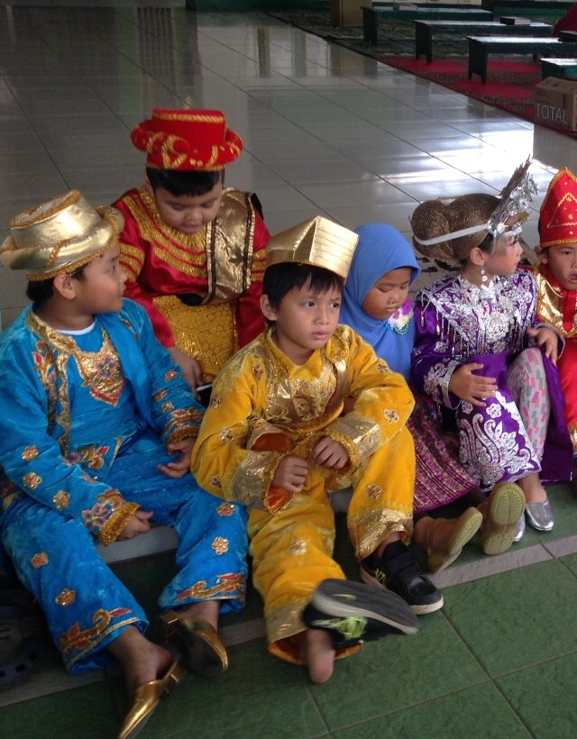 Traditional indonesia kids on kartini's day even yearly