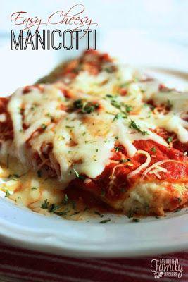 Easy Cheesy Manicotti