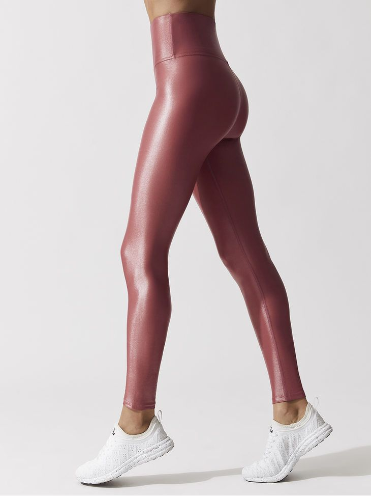 e90bc4e54213d5 CARBON38 CIRE High Waisted Takara Legging Mauve Pink LEGGINGS | Scar ...