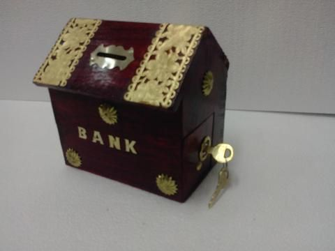 Piggy bank is the traditional name of a coin container usually used by children. Saving your coins has never been so fun.   Buy these cute Wooden piggy banks for your Kids brought to you by Craftsvenue.