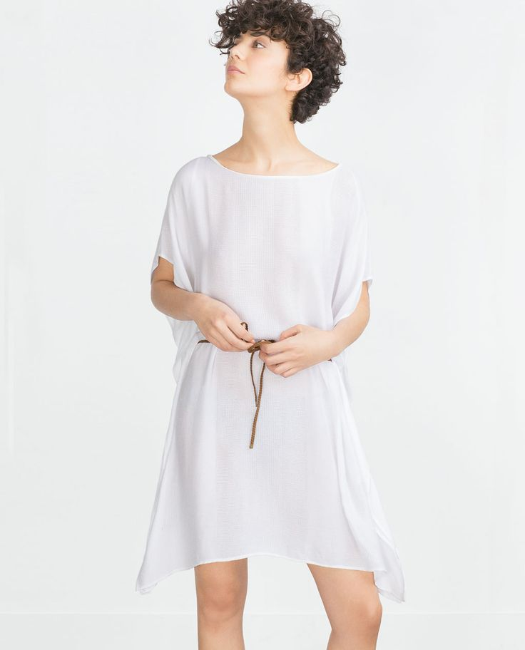 ZARA - SALE - FULL TUNIC WITH PLAITED BELT