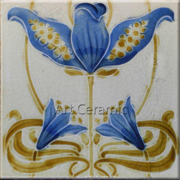 742 best Tiles 2 ( Art Nouveau ) images on Pinterest | Art nouveau ...