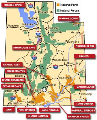 Great map of awesome places to visit in Utah. I love Utah!!