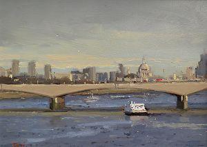 Waterloo Bridge, London by Michael John Ashcroft in the FASO Daily Art Show
