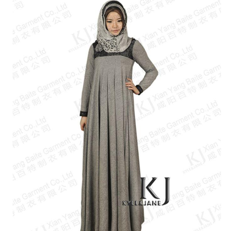 2013 Autumn new 100% cotton muslim abaya, dubai abaya for women ,90 degree muslim long dress lace patchwork jilbab,islamic abaya $68.98 - 72.98