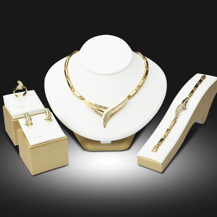 Dubai 18K Gold Plated Jewelry Sets Nigerian Wedding African Beads Crystal Bridal…