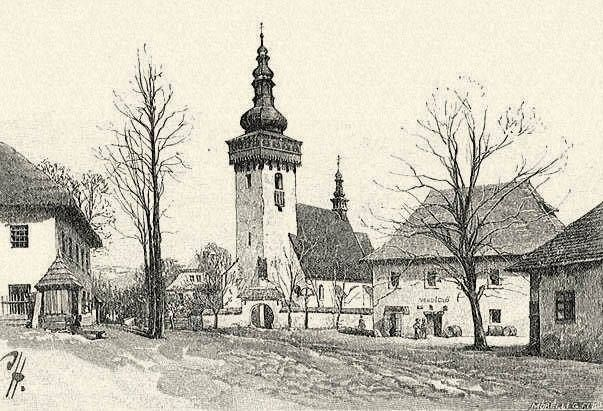 Historické foto  - kostol