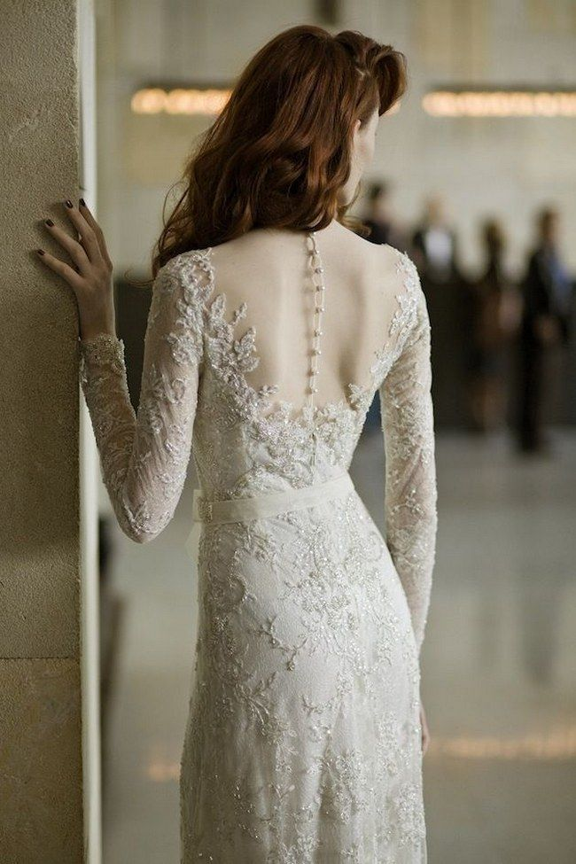 21 Ridiculously Stunning Long Sleeved Wedding Dresses on ConfettiDaydreams.com // Mira Zwillinger Gown via Bridal Musings // Photography:  Ronen Fadida