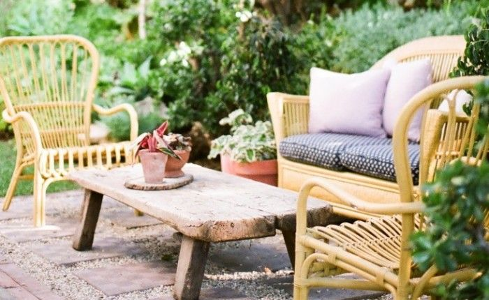 Gardenista: Sourcebook for Cultivated Living  rustic outdoor coffee table