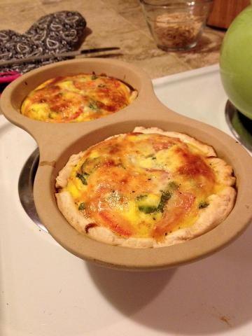 Tomato, Basil & Mozzarella Quiche in the Pampered Chef Egg Cooker!